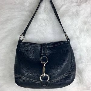 Coach Black Pebbled Leather Hobo